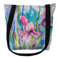 Pink Iris Flowers Tote Bag | Betsy Drake | TY1017M