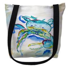 Blue Fiddler Crab Tote Bag | Betsy Drake | TY1014M