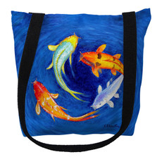 Swirling Koi Fish Tote Bag | Betsy Drake | TY857M