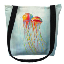 Colorful Jellyfish Tote Bag | Betsy Drake | TY1095M