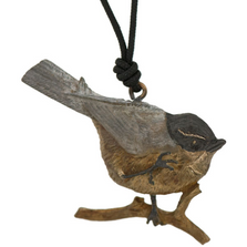 Chickadee Sculptural Pendant Necklace | Cavin Richie Jewelry | DMOKB-121-PEND