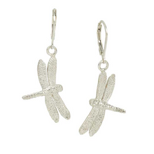Dragonfly Sculptural Sterling Silver Earrings | Cavin Richie Jewelry | KSE-89-LB