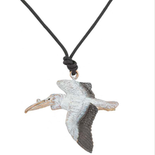 White Pelican Pendant Necklace | Cavin Richie Jewelry | KB-203-PEND