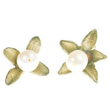 Boxwood Post Earrings   Michael Michaud Jewelry   SS4248BZWP -2