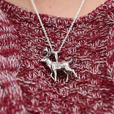 Deer Sterling Silver Pendant Necklace | Kabana Jewelry | SP503
