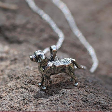 Labrador Sterling Silver Pendant Necklace | Kabana Jewelry | SP454