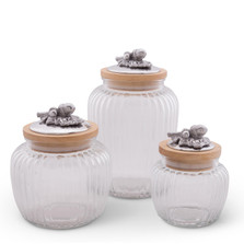 Acorn Oak Leaf Canister Set of 3 | Arthur Court Designs | 15SSL1