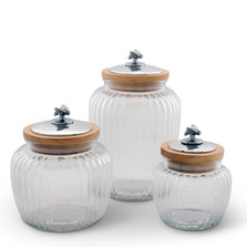 Honey Bee Glass Canister Set of 3 | Arthur Court Designs | 15SSN1
