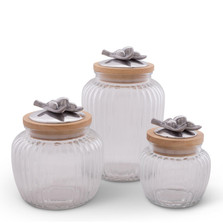 Olive Glass Canister Set of 3 | Arthur Court Designs | 15SSG2