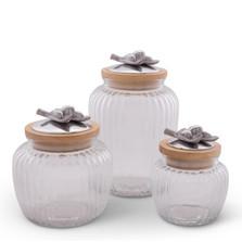 Olive Glass Canister Set of 3   Arthur Court Designs   15SSG2