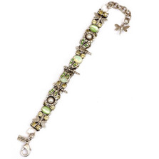 Dragonfly and Flower Pewter Bracelet | Nature Jewelry | BR9164