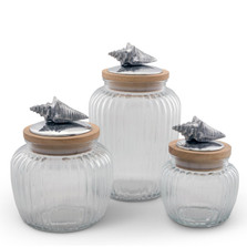 Sea Shell Glass Canister Set of 3 | Arthur Court Designs | 15SSO1