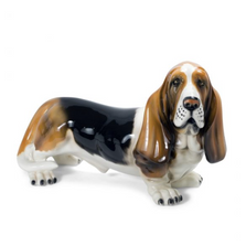 Basset Hound Dog Ceramic Sculpture | Intrada Italy | ANI2325