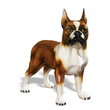 Boston Terrier Dog Ceramic Sculpture | Intrada Italy | ANI2307