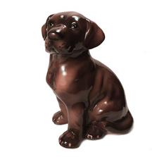 Chocolate Lab Dog Ceramic Sculpture | Intrada Italy | ANI1274CH