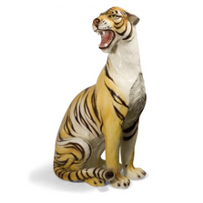 Sitting Tiger Ceramic Sculpture | Intrada Italy | ANI9503