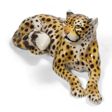 Resting Cheetah Ceramic Sculpture | Intrada Italy | ANI9519