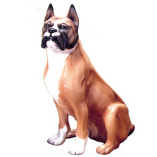 Boxer Dog Ceramic Sculpture | Intrada Italy | ANI9513