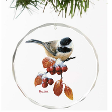 Chickadee Crystal Ornament | Winter Gems | Wild Wings