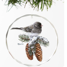 Junco Crystal Ornament | Winter Gems | Wild Wings