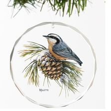 Nuthatch Crystal Ornament | Winter Gems | Wild Wings