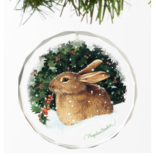 Bunny Crystal Ornament | Snowy Cheer | Wild Wings