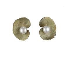 Spiral Geranium Post Earrings | Michael Michaud Jewelry | SS4380bzwp