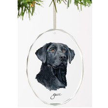 Black Lab Crystal Ornament | Loyal Companion | Wild Wings
