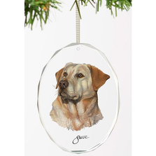 Yellow Lab Crystal Ornament | Loyal Companion | Wild Wings