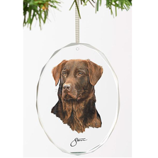 Chocolate Lab Crystal Ornament | Loyal Companion | Wild Wings