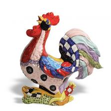 Fantasia Rooster Ceramic Sculpture | Intrada Italy | MAJ7870R