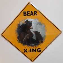 Bear Metal Crossing Sign | Bear X-ing Sign | MXSHB1138