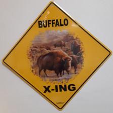 Buffalo Metal Crossing Sign | Buffalo Xing Sign | MXSHB3053
