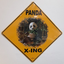Panda Metal Crossing Sign | Panda X-ing Sign
