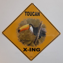 Toucan Metal Crossing Sign | Toucan X-ing Sign
