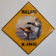 Mallard Metal Crossing Sign | Mallard X-ing Sign