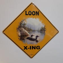 Loon Metal Crossing Sign | Loon X-ing Sign