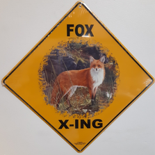 Fox Metal Crossing Sign | MXSHB1157