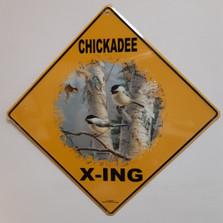 Chickadee Metal Crossing Sign | Chickadee X-ing