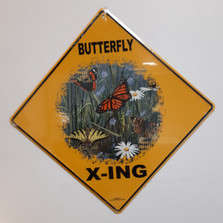 Butterfly Metal Crossing Sign | Butterfly X-ing