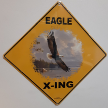 Eagle Soaring Metal Crossing Sign | Eagle Soaring X-ing Sign | MXSHB1090