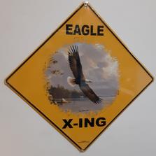 Eagle Soaring Metal Crossing Sign | Eagle Soaring X-ing Sign | MXSHB1090