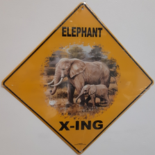 Elephant Metal Crossing Sign | MXSHB30807