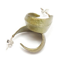 Eucalyptus Hoop Earrings | Michael Michaud Jewelry | SS4401bz