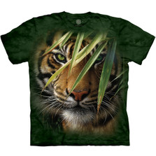 Tiger Emerald Forest Unisex Cotton T-Shirt | The Mountain | 105934 | Tiger T-Shirt
