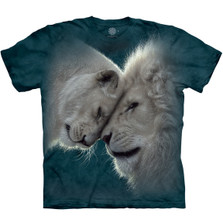 White Lions Love Unisex Cotton T-Shirt | The Mountain | 105937 | White Lions T-Shirt
