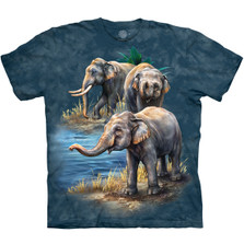 Asian Elephant Collage Unisex Cotton T-Shirt | The Mountain | 105979 | Asian Elephant T-Shirt