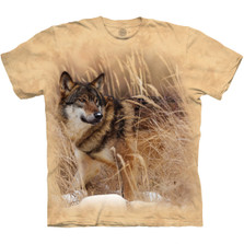 Winter Wolf Portrait Unisex Cotton T-Shirt | The Mountain | 105891 | Wolf T-Shirt
