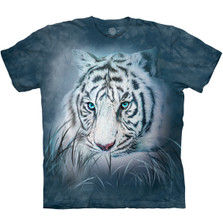 Thoughtful White Tiger Unisex Cotton T-Shirt | The Mountain | 105964 | White Tiger T-Shirt