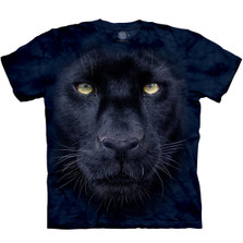 Panther Gaze Unisex Cotton T-Shirt | The Mountain | 105963 | Panther T-Shirt